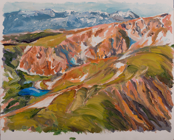 Buff Elting, Continental Divide, oil, 9 x 12.