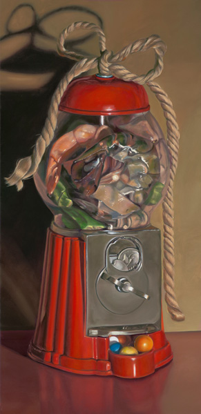 Darcie Copeland, Shrimp Gum Bow, oil, 15 x 22.