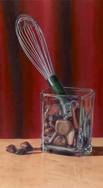 Darcie Copeland, Whis-key on the Rocks, oil, 32 x 18.