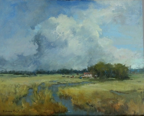 Bethanne Kinsella Cople, Partly Cloudy, oil, 16 x 20.