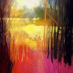 Mark Gould, Coppice 862, acrylic, 20 x 16.