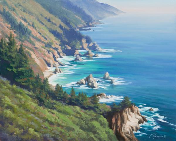 Coraly Hanson, Coastal Colors, oil, 16 x 20.