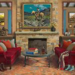 Jenness Cortez, Home on the Range, acrylic, 34 x 41. Estimate: $100,000-$150,000.
