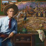 Jenness Cortez, The Cowboy Artist, acrylic, 20 x 24.
