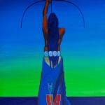 Cosmic Archer, acrylic, 24 x 20.