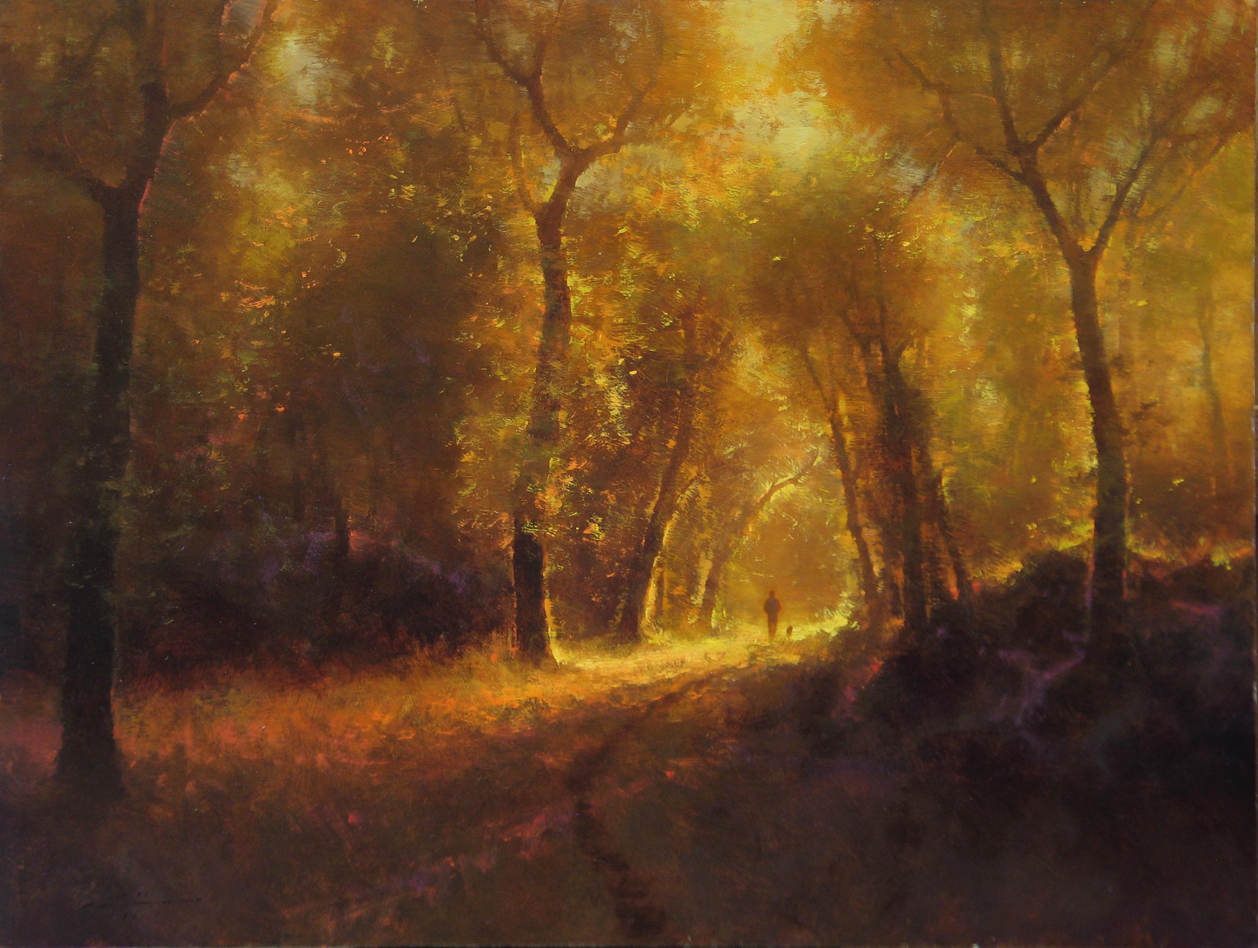 Brent Cotton, Friends, oil, 20 x 26.
