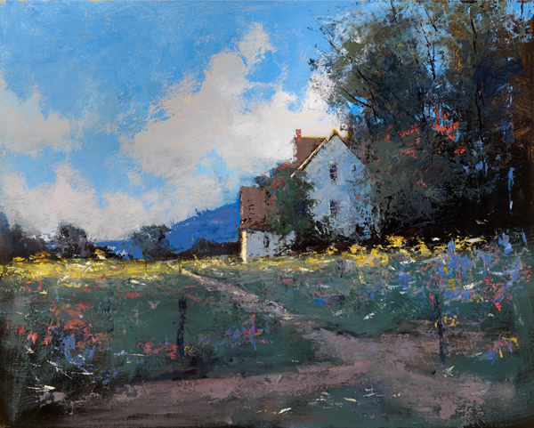 Romona Youngquist, Country Wildflowers, oil, 24 x 30.