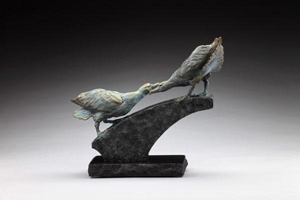 Courtship, bronze, 13 x 16 x 6.