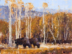 Jerry Markham, Covered in Autumn, oil, 12 x 16.