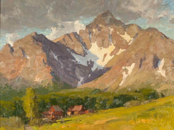 Bill Cramer, Clarice's Ranch, oil, 18 x 24.