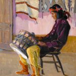Catherine Carter Critcher, Indian Drummer, oil, 18 x 17. Estimate: $125,000-$200,000.