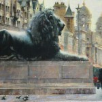 Elizabeth Pollie, Crossroads and Kings, oil, 22 x 36.