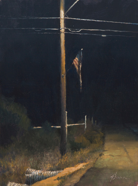 Jason Sacran, Crossroads, oil, 16 x 12.