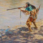 Ann Hanson, Crow Hunter, oil, 20 x 16.