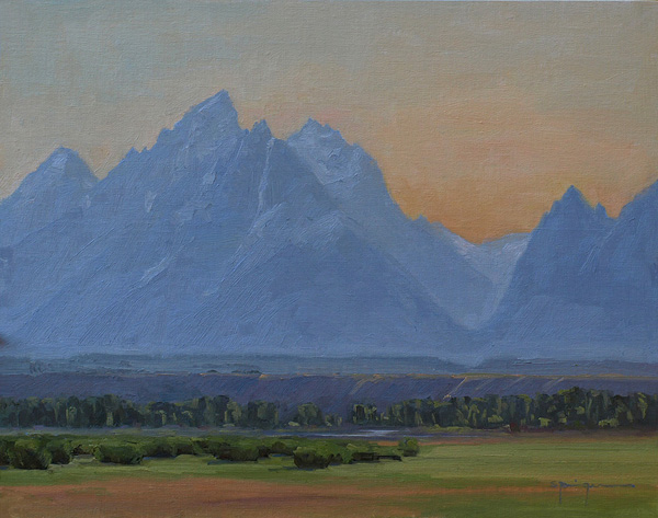 Cydney Springer, Best Teton Evening Ever, oil, 14 x 11.