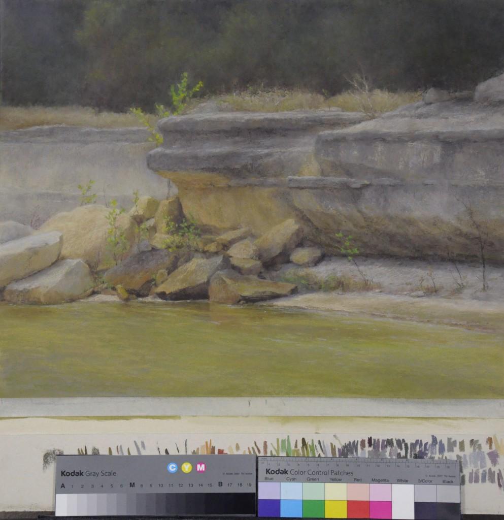 D. LaRue Mahlke, On Rocky Ground, pastel, 16 x 20.