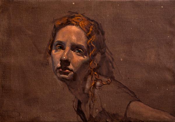Daniel Bilmes, Marie, oil, 18 x 14.