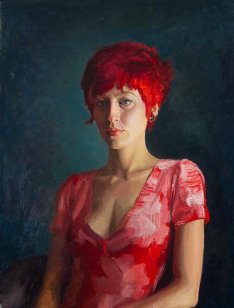 Daniel Bilmes, Sara, oil, 18 x 24.