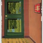 Daniel Granitto, Rustic Screen Door, acrylic, 15 x 13.