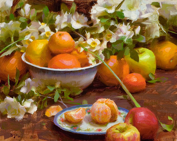 Daniel J. Keys, Bowl of Citrus, oil, 16 x 20.