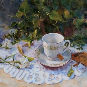 Darianne Whitt, A Quiet Moment, oil, 12 x 24.