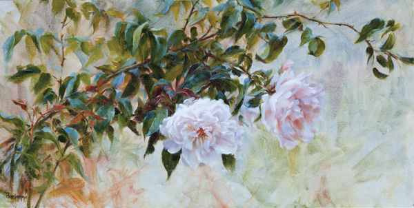 Darianne Whitt, All Things Beautiful, oil, 12 x 24.