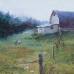 Darianne Whitt, Misty Morning, oil, 10 x 20.