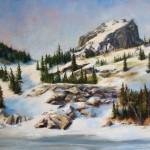 Darianne Whitt, Spring in the Mountains, oil, 18 x 24.