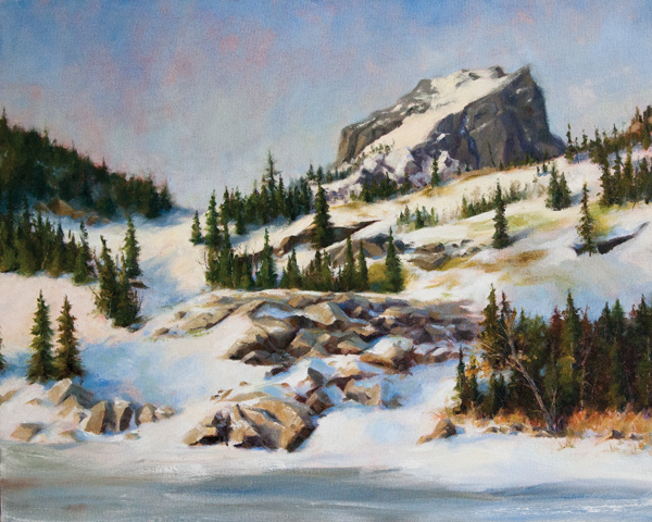 Darianne Whitt, Spring in the Mountains, oil, 18 x 24.