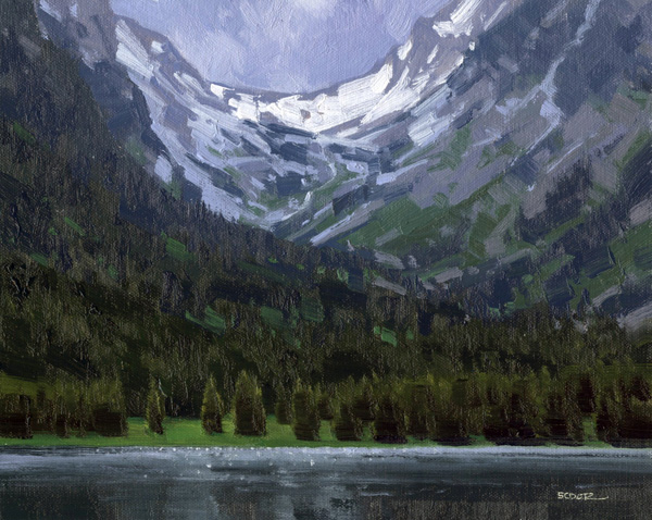 Stephen C. Datz, Avalanche Canyon Light, oil, 8 x 10.