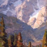 Bill Davidson, Teton Heights, oil, 16 x 8.