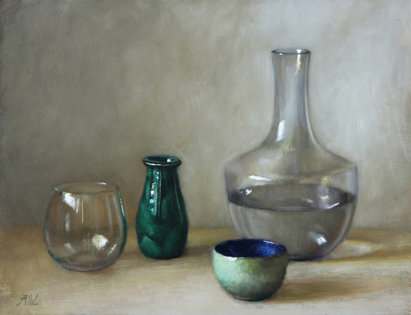 Michael DeVore, Vessels, oil, 14 x 18.