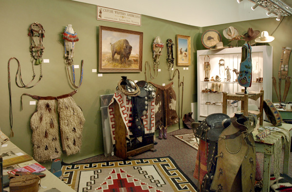 One of the booths at ;ast year's Old West Show