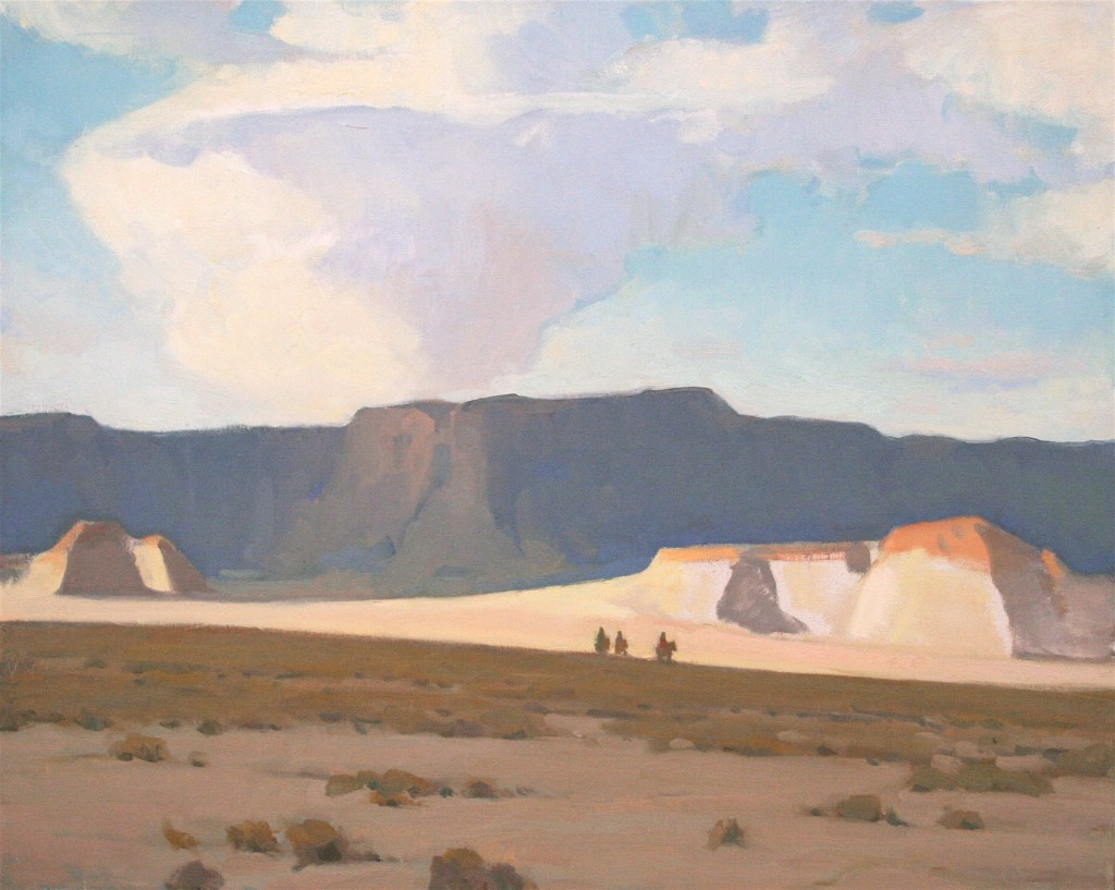 Glenn Dean, Desert Crossing, oil, 24 x 30.