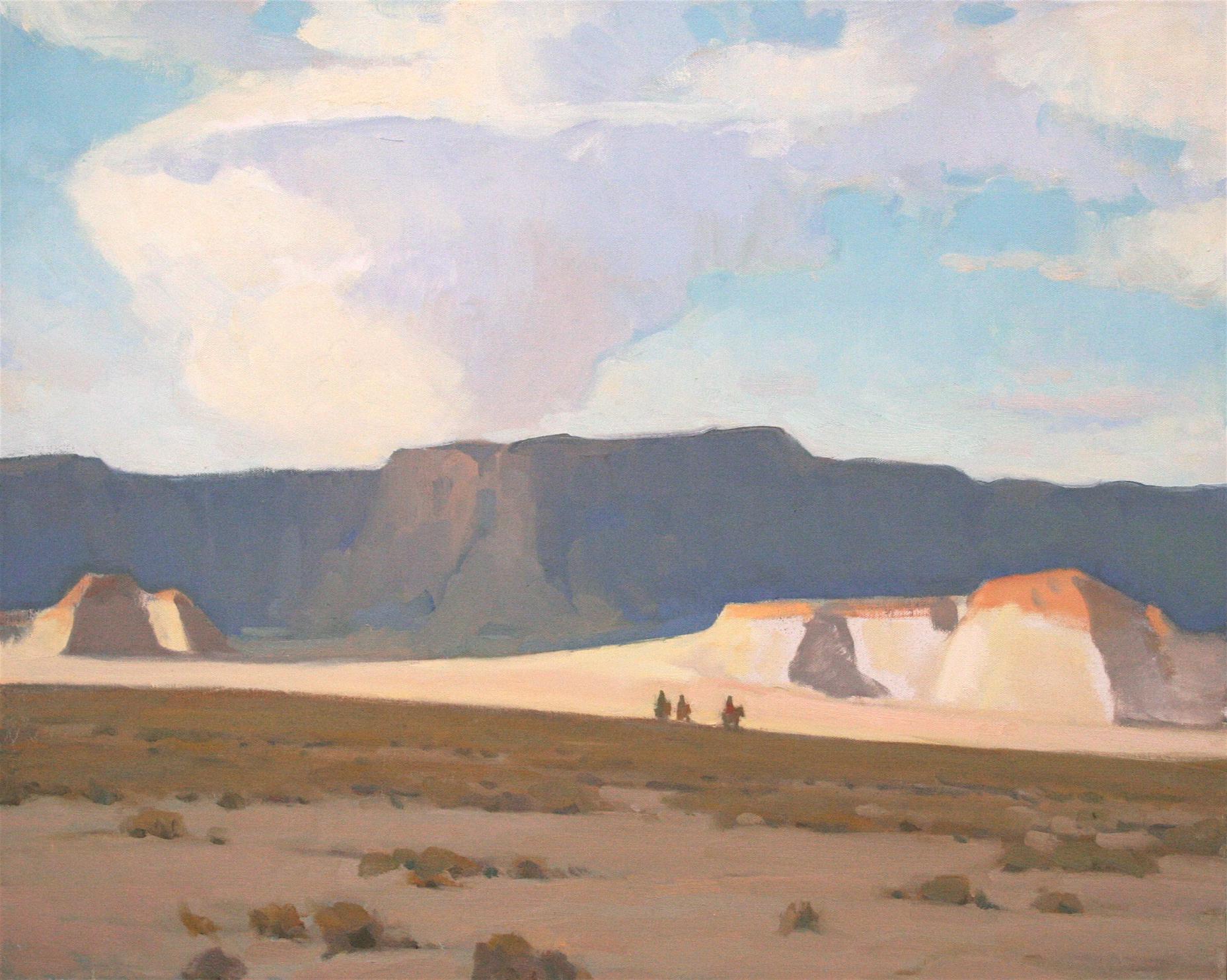Glenn Dean, Desert Crossing, oil, 24 x 30.