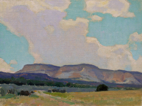 Glenn Dean, Shadowed Mesa, oil, 9 x 12.