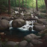 Ryan S. Brown, Deep Woods Falls, oil, 40 x 60.