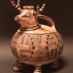Lorraine Lewis, Deer Effigy, pottery.