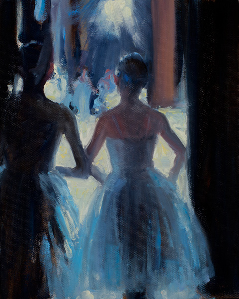 Tim Deibler, Waiting in the Wings, oil, 10 x 8.