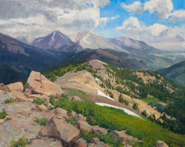 Tim Deibler, View from the Top, oil, 24 x 30.