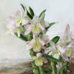 Mary Qian, Dendrobium, oil, 15 x 12.