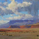 G. Russell Case, Desert Sentinel, oil, 30 x 40.