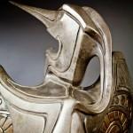 Hearts Unfolding, detail, bronze, 39 x 16 x 12.