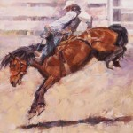 Lindsey Bittner Graham, Determination, oil, 36 x 36.