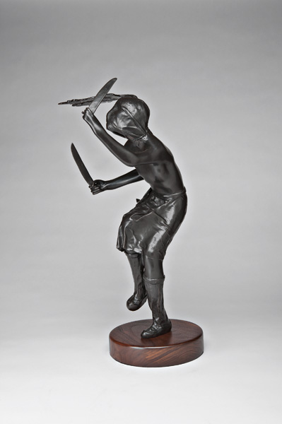 Michael Naranjo, Devil Dancer, bronze sculpture