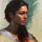 Jacob Dhein, Varsha, oil, 20 x 16.
