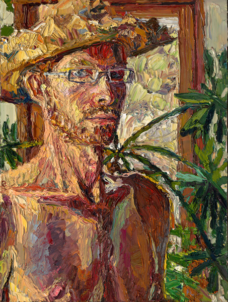Jivan Lee, Dialogue, With Hat, oil, 16 x 12.