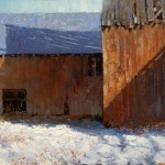 Jerolyn Dirks, Barn Shadows, oil, 30 x 40.