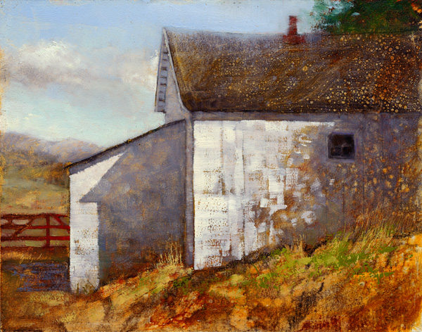 Jerolyn Dirks, Ice House, oil, 11 x 14.