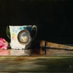Kathie Disner, Ready to Gogh, oil, 9 x 12.